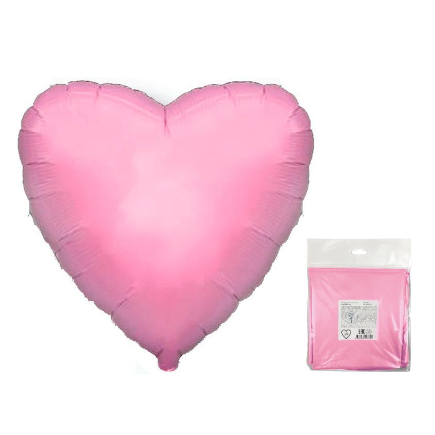 Сердце Розовый в упаковке / Heart Pink, 32*78 см