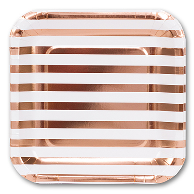 Тарелки большие Розовое Золото