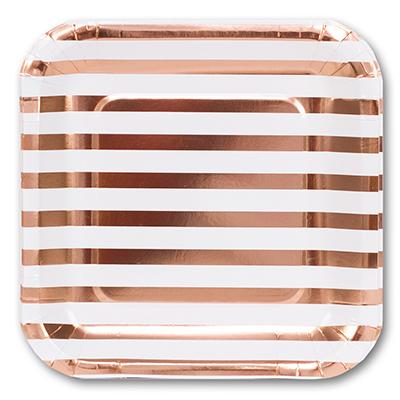 Тарелки малые Розовое Золото 6шт 17см