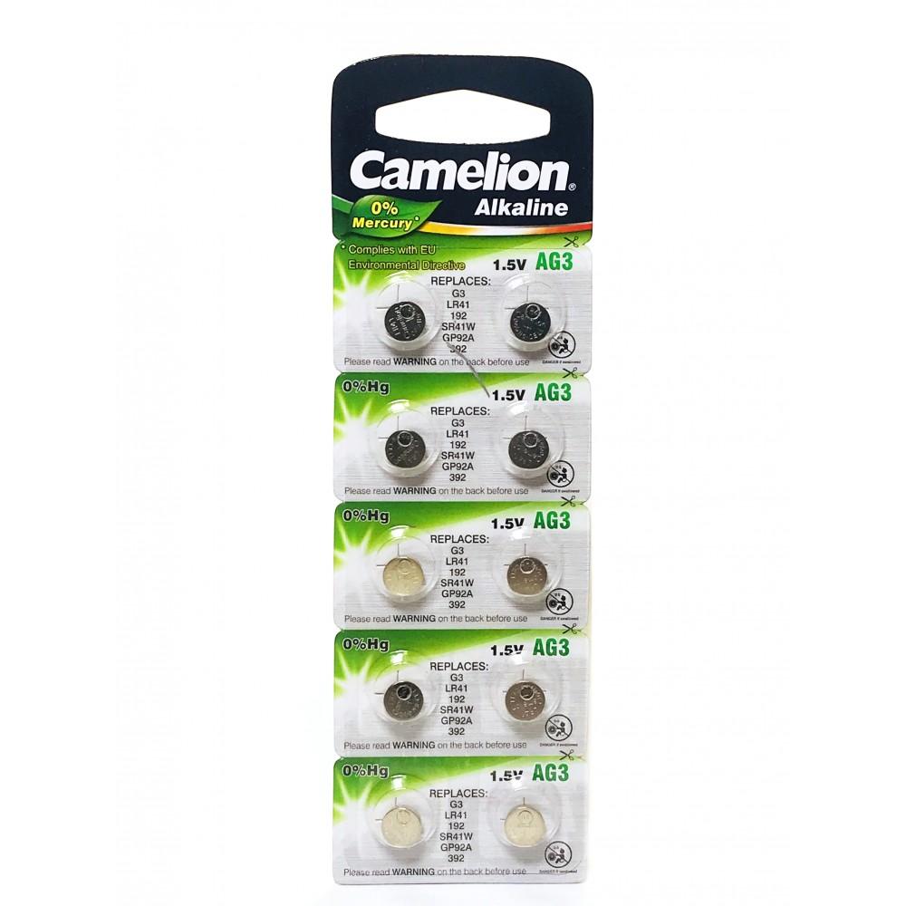 Батарейка AG 3 Camelion BL-10 MF(392A\LR41\192)