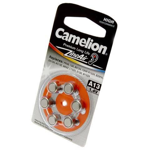 Батарейка Gamelion ZA13 BL-6 Merkury Free д\слуховых аппаратов,1,4V,280mAh