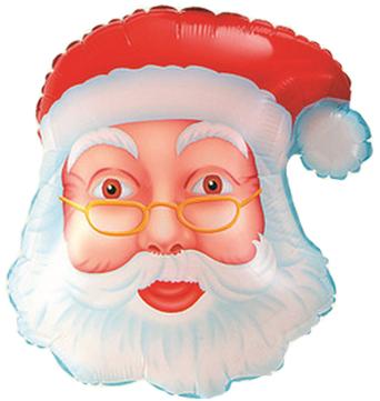 Шар (19\/48 см) Фигура, Голова Деда Мороза
