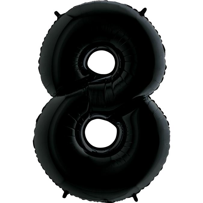 Шар (40/102 см) Цифра, 8