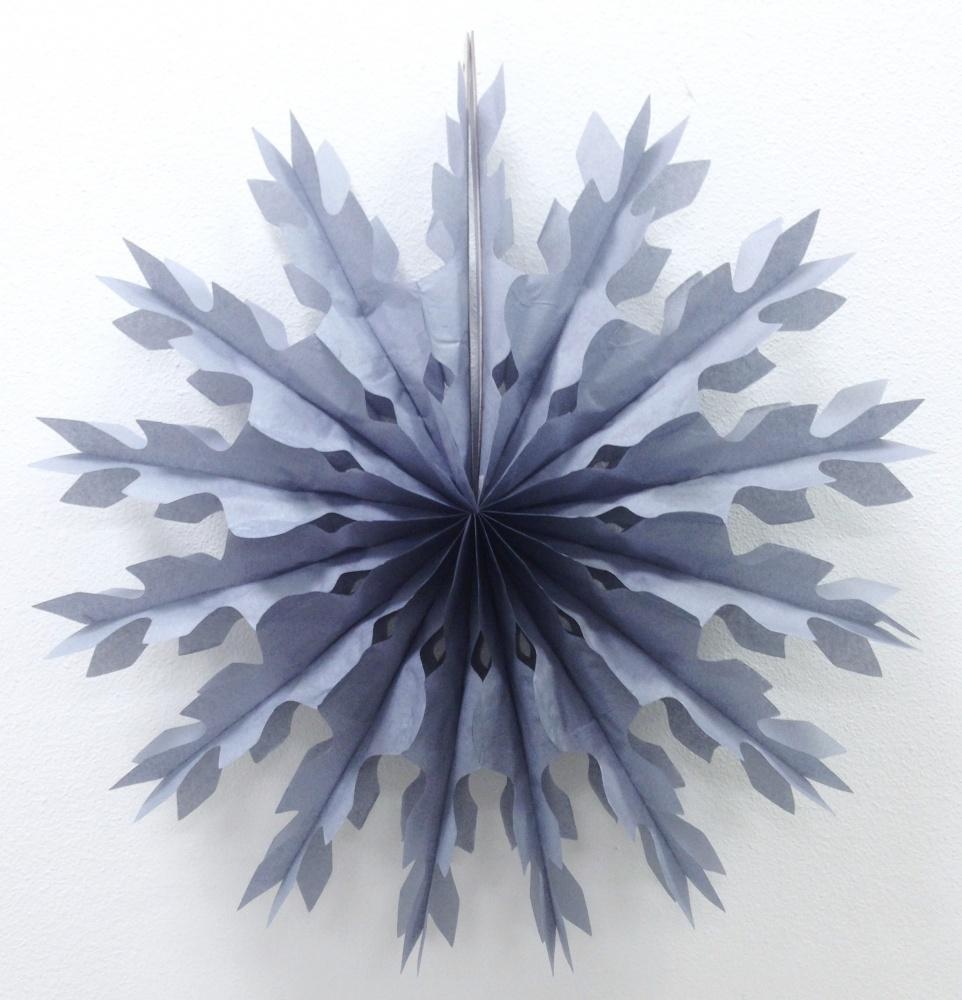 Бумажный диск Снежинка Серый (16\/41 см)