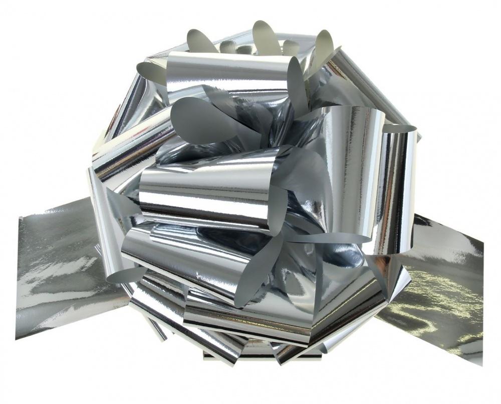 Бант Шар металлик Серебро (5\/13 см), 1 шт.