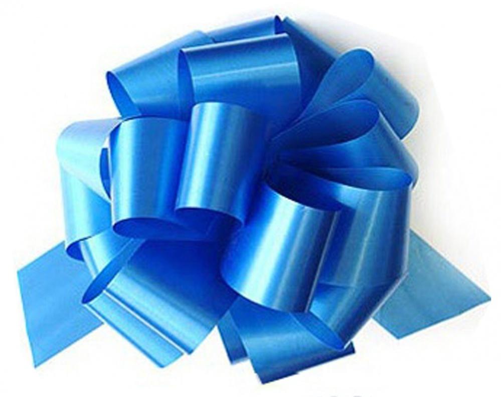 Бант Шар металлик Голубой (5\/13 см), 1 шт.