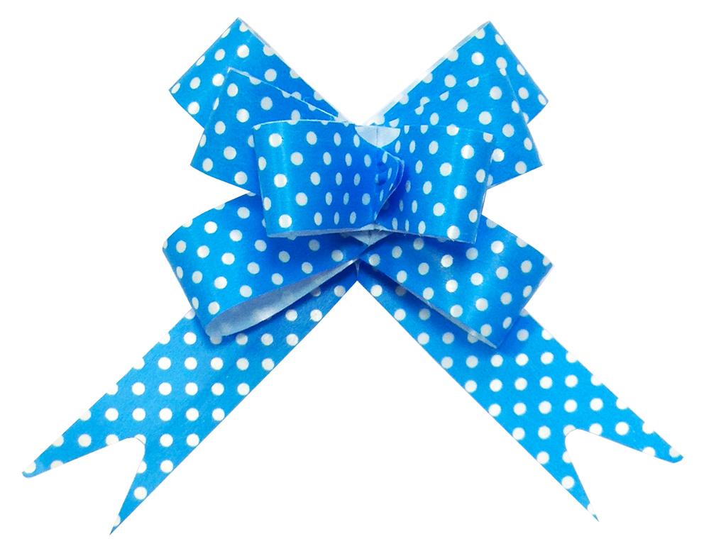Бант Бабочка Точки, Голубой (6,3\/16 см), 1 шт.
