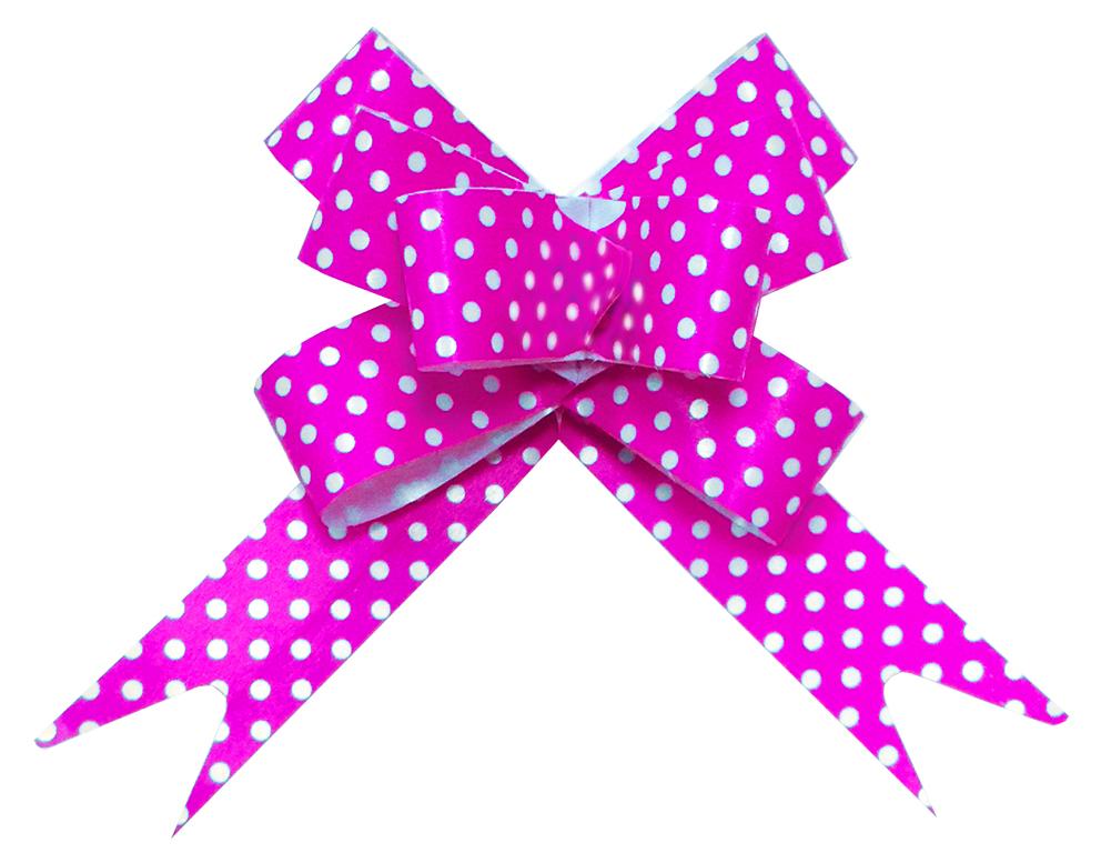 Бант Бабочка Точки, Розовый (6,3/16 см), 1 шт.