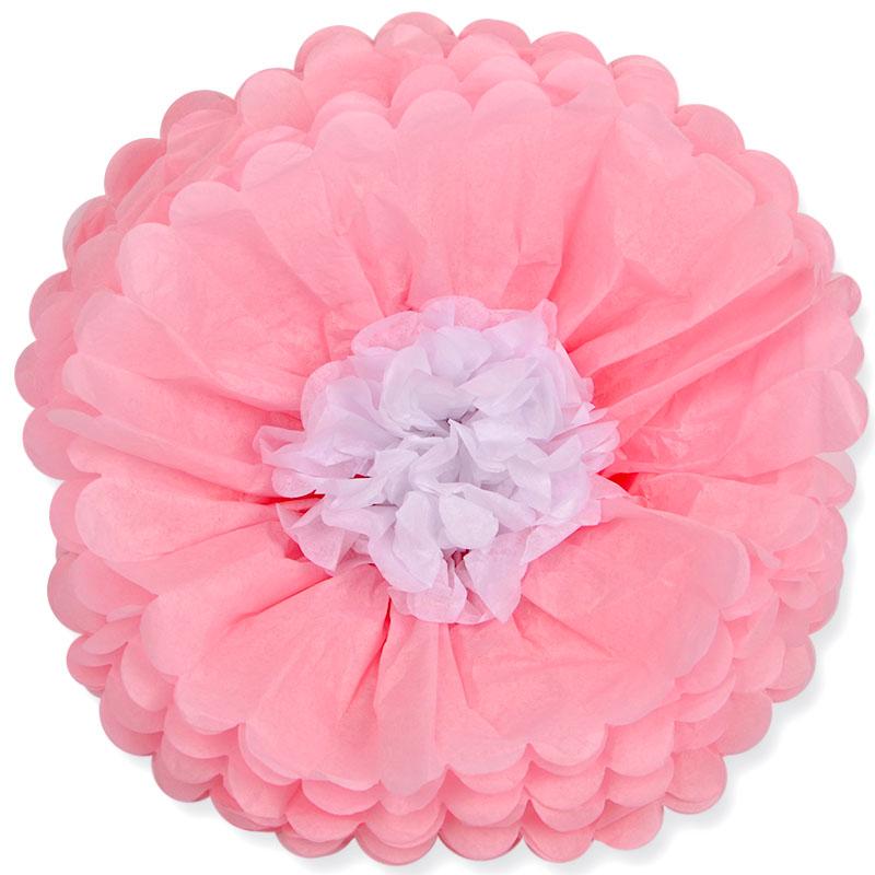 Бумажный цветок Розовый (14\/36 см)