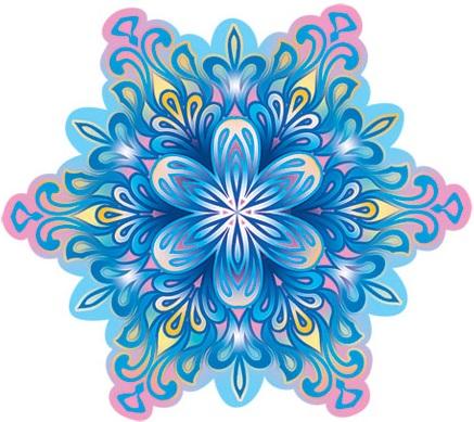 Открытка Снежинка (с розовыми кристаллами)