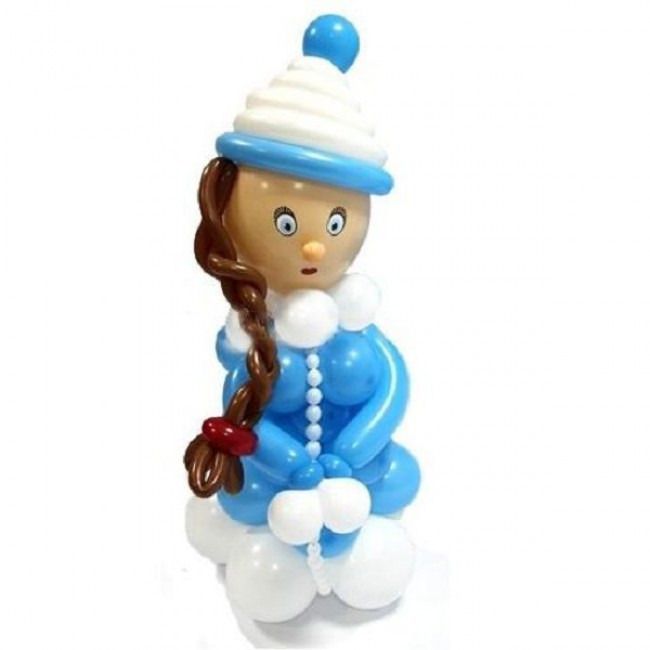 Снегурочка из шаров