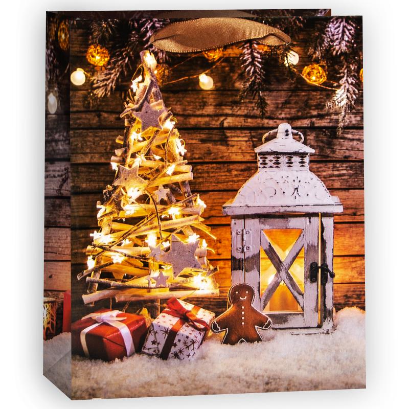 Пакет подарочный Новогодняя сказка, 18*23*10 см