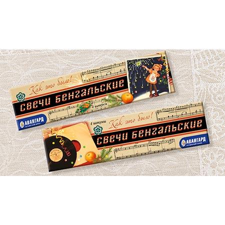 Свечи бенгальские в пакете Ретро 4 шт