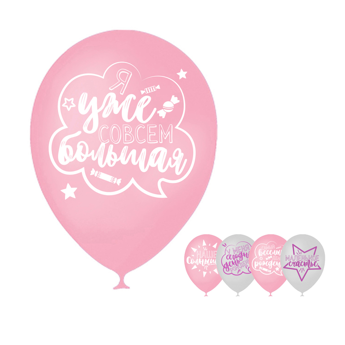 Шар воздушный  День рождения девочки, для селфи