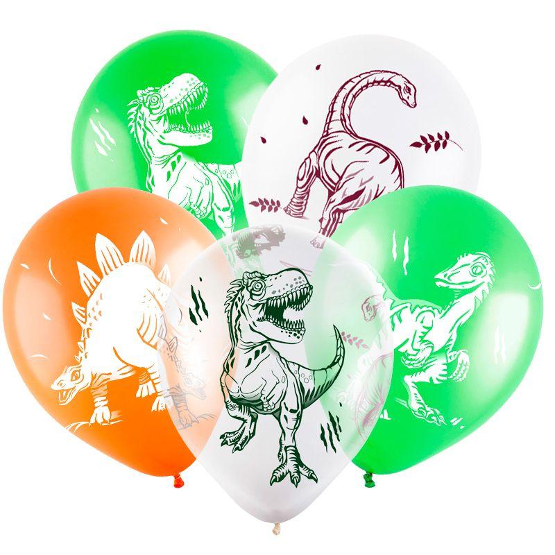 Динозавры, Ассорти Пастель-Кристал, 4 ст, 30см, 100 шт