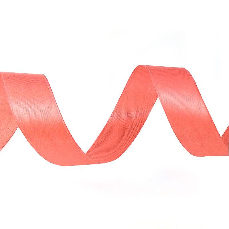 Лента Атлас Розовое золото / 25 мм * 22,85 м