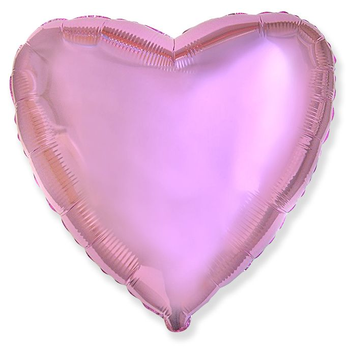 Сердце Розовый нежный / Heart Light Pink / 1 шт , 78см
