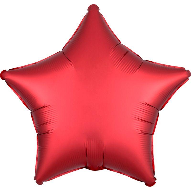 Звезда Красный Ягодный Сатин Люкс в упаковке 46см
