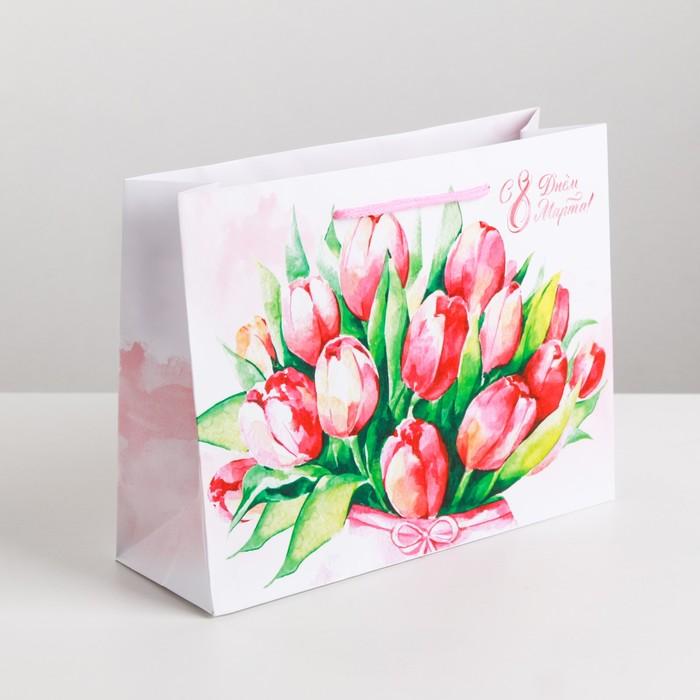 Пакет ламинированный горизонтальный «Цветочная нежность», ML 23 × 27 × 8 см