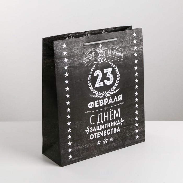 Пакет ламинированный вертикальный «Защитнику», ML 23 × 27 × 8 см