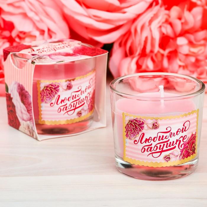 Свеча арома в стакане