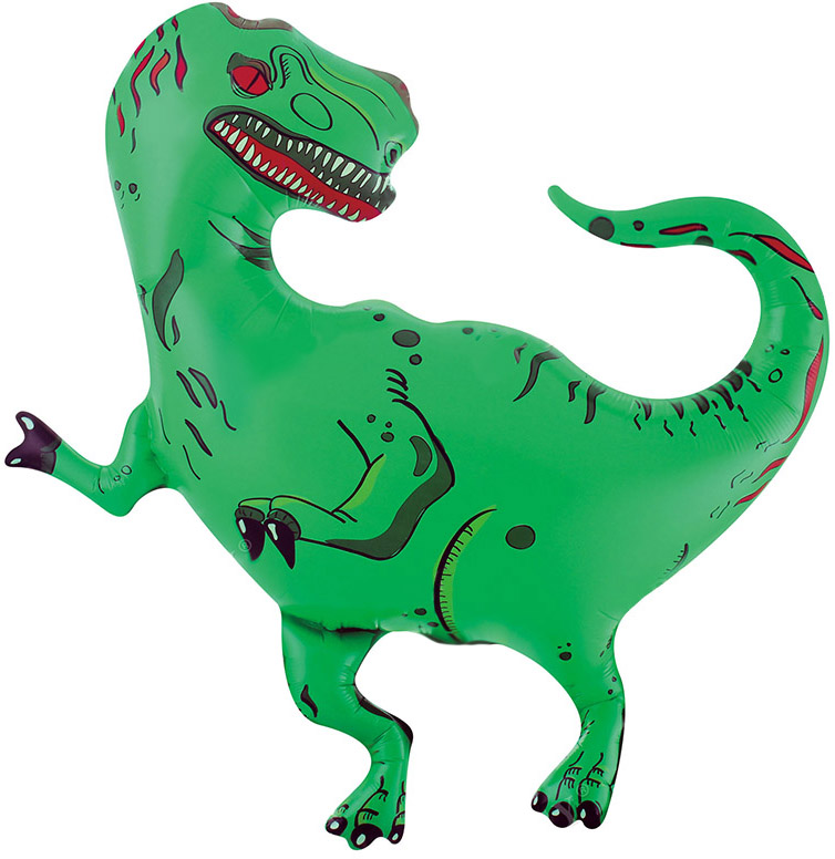 Шар (37/94 см) Фигура, Динозавр Тираннозавр, 1 шт.