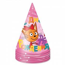 Колпаки Три Кота, Розовый, 6 шт, 6014892