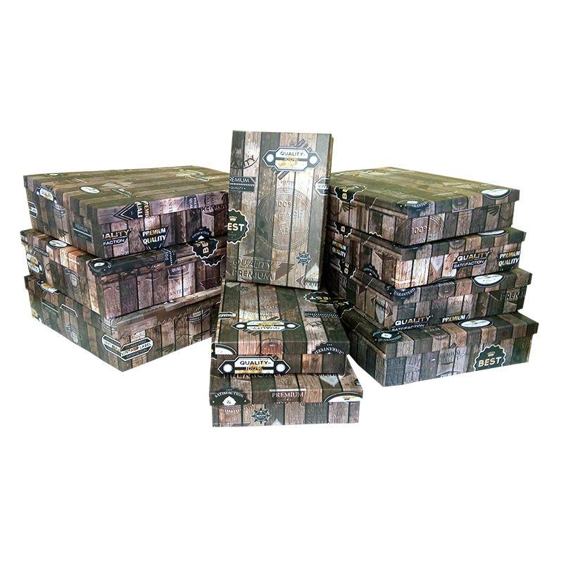 """Коробка """"Деревянный ящик. Винтаж"""" / прямоугольник, 43,5*34*9"""