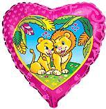 Сердце Влюблённые львы, 45см