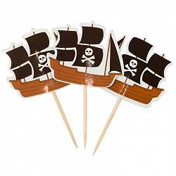 Пики для канапе Пиратский корабль, 20 шт