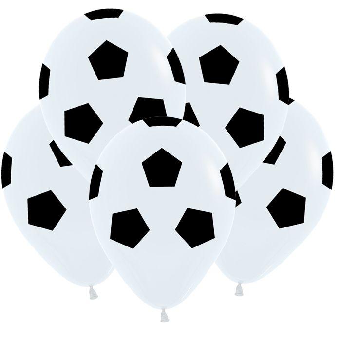 Футбольный мяч, Белый Пастель, 5 ст.