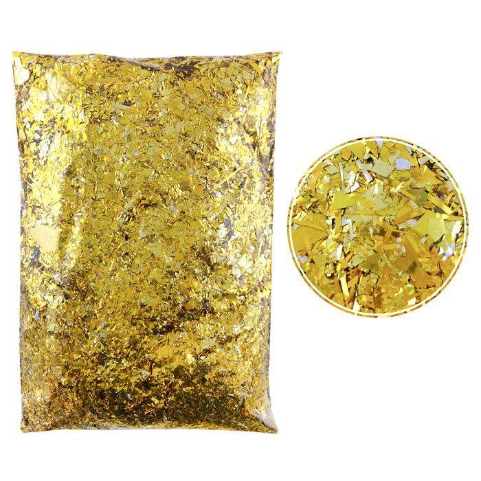 Конфетти Дробленые Золотые, 250 гр