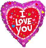 Сердце Я тебя люблю Сердечки и крестики, 45см