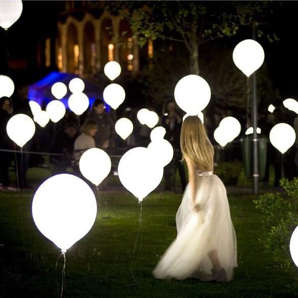 Гелиевые шары со светодиодами 45 см (светятся в темноте)