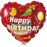 Сердце Колпачок С днём рождения, 45см