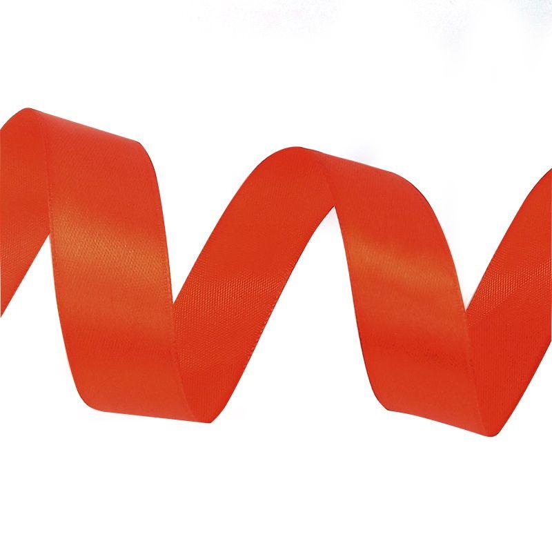 Лента Атлас Красный, 2,5 см * 22,85м