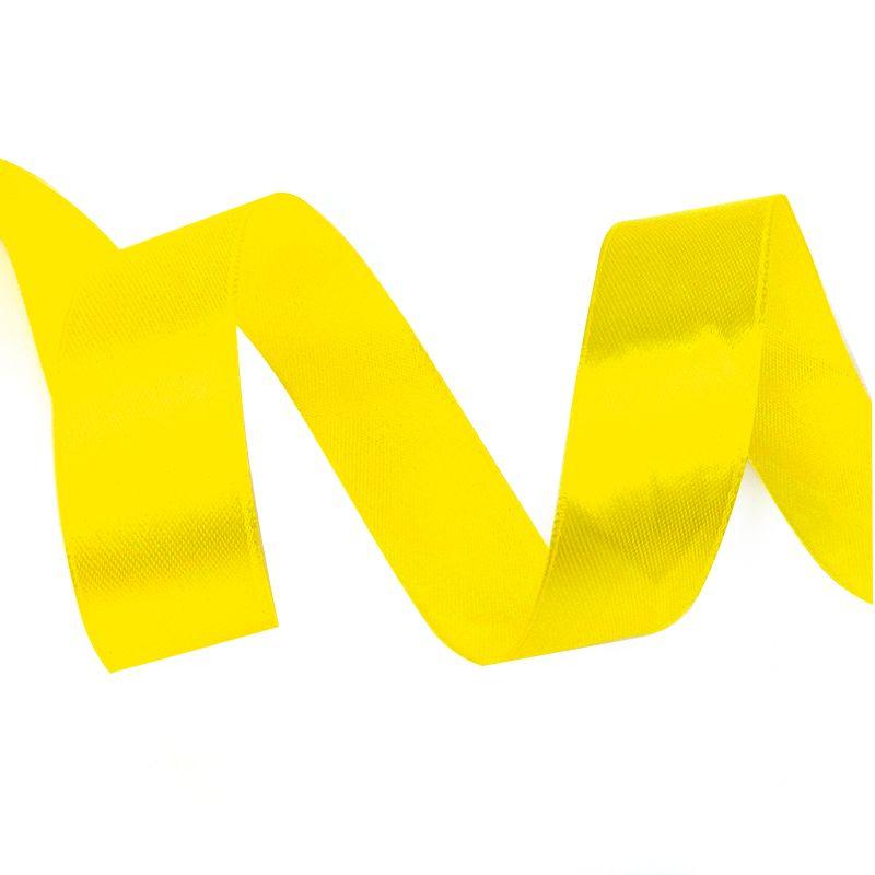 Лента Атлас Желтый, 2,5 см * 22,85 м