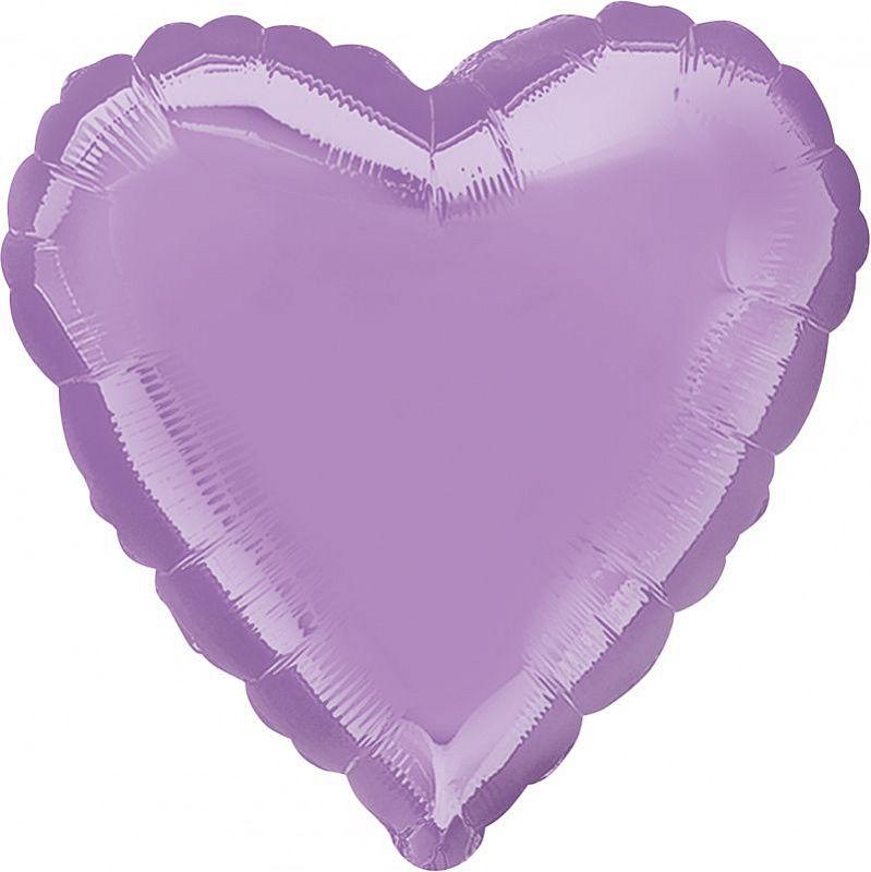 Сердце Лаванда / Pearl Lavender Decorator Heart S15, 18