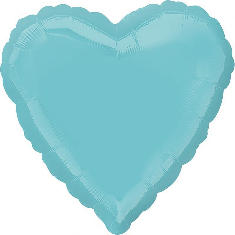 Сердце Бирюзовый / Robins Egg Blue Decorator Heart S15, 18