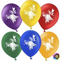 Воздушный шар Колокольчик, Ассорти, пастель, 2 ст, 30см