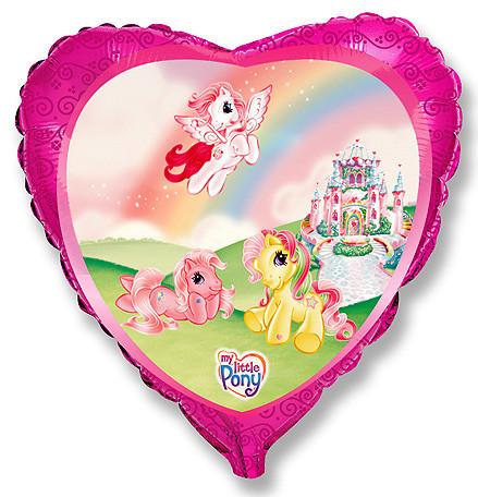 Сердце Моя маленькая лошадка Замок, 45см