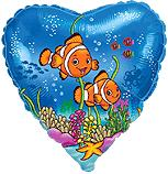 Сердце Рыбки-клоуны, 45см
