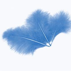 Перья Голубые, 13-15 см, 30 шт