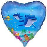 Сердце Счастливый дельфин, 45см