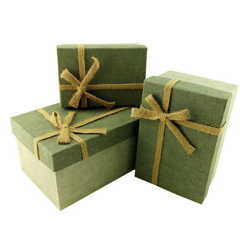 Рустик Серый с бантом Коробка, 11*16*7,5 см