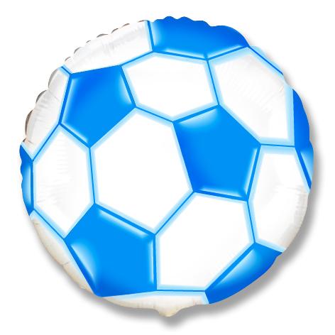Круг Футбольный мяч (синий), 45см