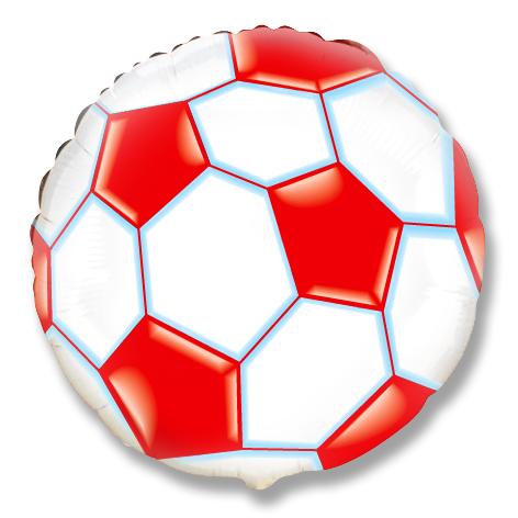 Круг Футбольный мяч (красный), 45см