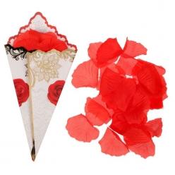Лепестки роз с кульком, красные