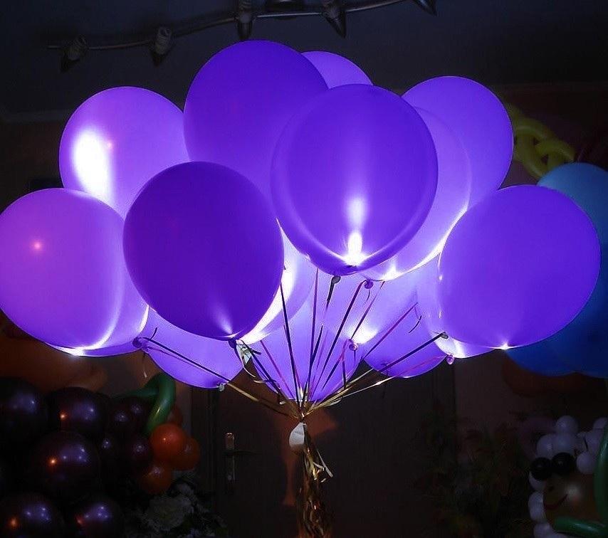 Гелиевые шары со светодиодами 4D (светятся в темноте)