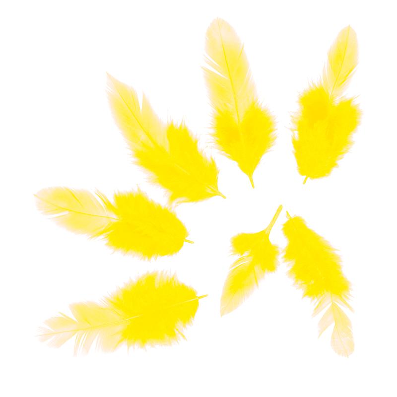 Перья Желтые, 50 шт.